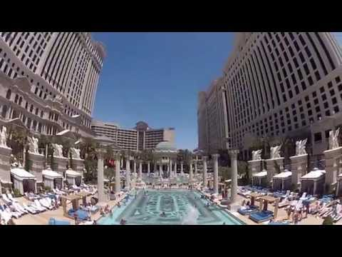 Caesars Palace, Las Vegas, Garden of the Gods Pool Oasis. Gopro