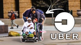Picking up UBER Riders in a Toy Car!