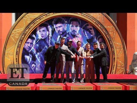 'Avengers' Stars Scarlett Johansson, Robert Downey Jr., More Attend Handprint Ceremony