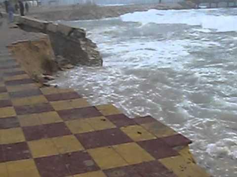 Mini Tsunami à Nabeul (Tunisia)
