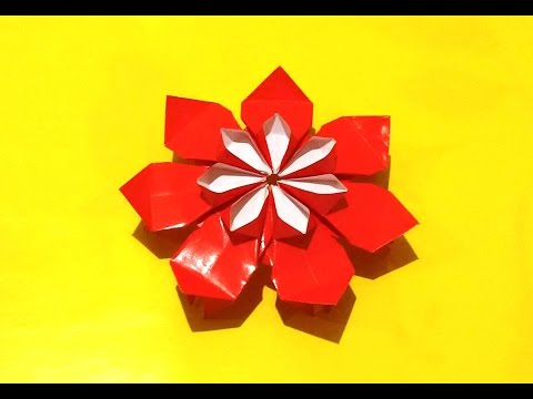 Amazing origami flower. Dairy decor flower. Easter paper decorations