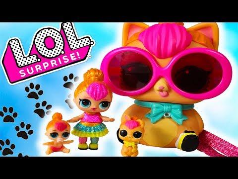 СЕМЕЙКА ЛОЛ НЕОН Огромный питомец ЛОЛ Сюрприз Распаковка Biggie Pets LOL Surprise toys