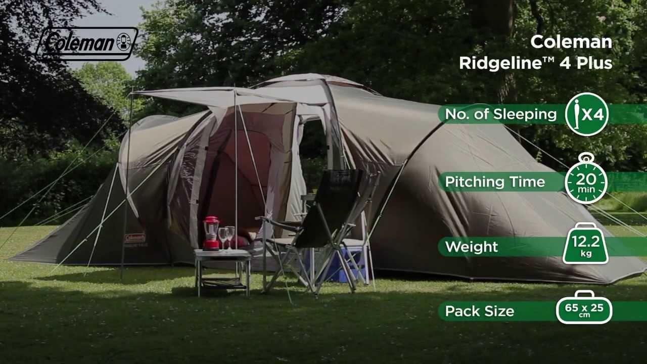 Coleman® Ridgeline 4 Plus Camping Tent - YouTube