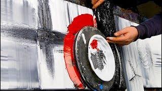 How To Easy Paint Abstract Art Acrylics using brush, knife - New Pony - John Beckley