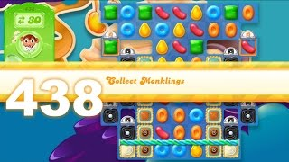 Candy Crush Jelly Saga Level 438 [4 monklings] (No boosters)
