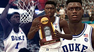 NBA 2K19 Zion's MyCAREER #2 - NCAA Championship Game & NBA DRAFT!
