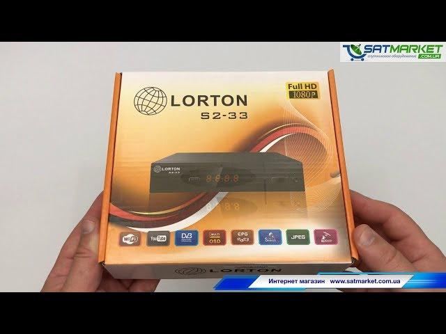 Видео обзор LORTON S2-33 Full HD