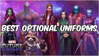TOP 10 UNIFORM OPTIONS! ENDGAME 2019 - Marvel Future Fight