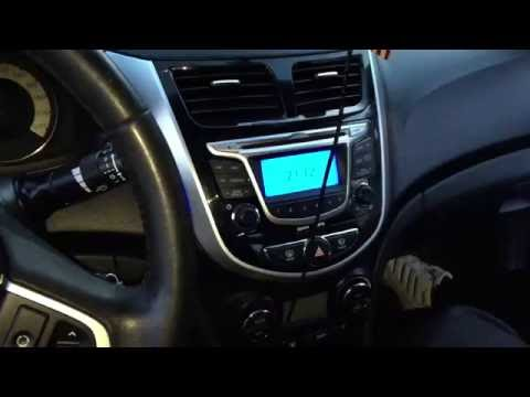 Как отключить автовключение кондиционера Hyundai Solaris