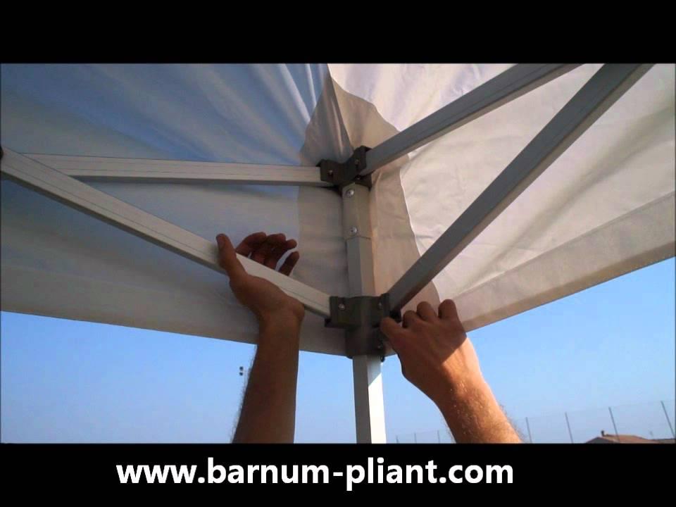blocage barnum pliant 3x6 semi pro alu 40mm youtube. Black Bedroom Furniture Sets. Home Design Ideas