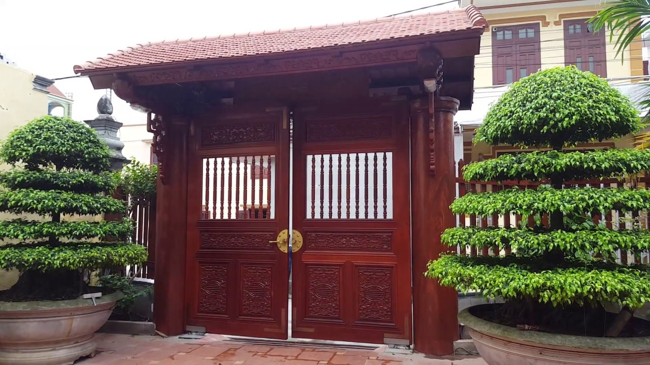 cổng gỗ đẹp Điều khiển tự động cho Cổng gỗ tuyệt đẹp   YouTube cổng gỗ đẹp