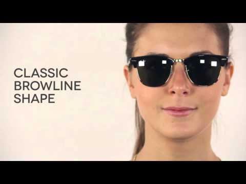 Ray-Ban RB3016 Clubmaster Classic Sunglasses Review | SmartBuyGlasses - YouTube