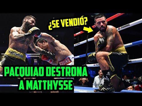 PACQUIAO DERROTA A MATTHYSSE POR NOCAUT