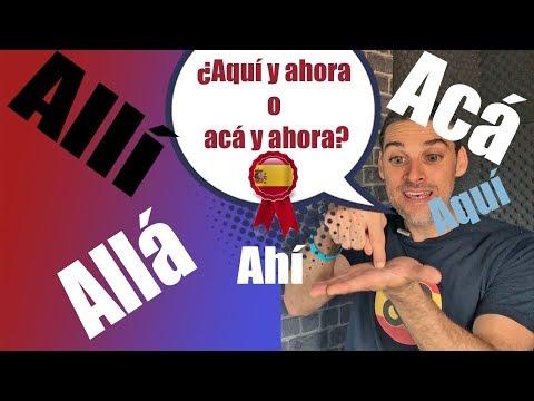 ¿Aquí o Acá?¿ Allí o Allá? Explicación en Español de España