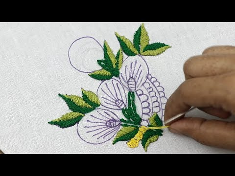 hand embroidery, Brazilian Embroidery for beginners, Very unique hand embroidery flower designs