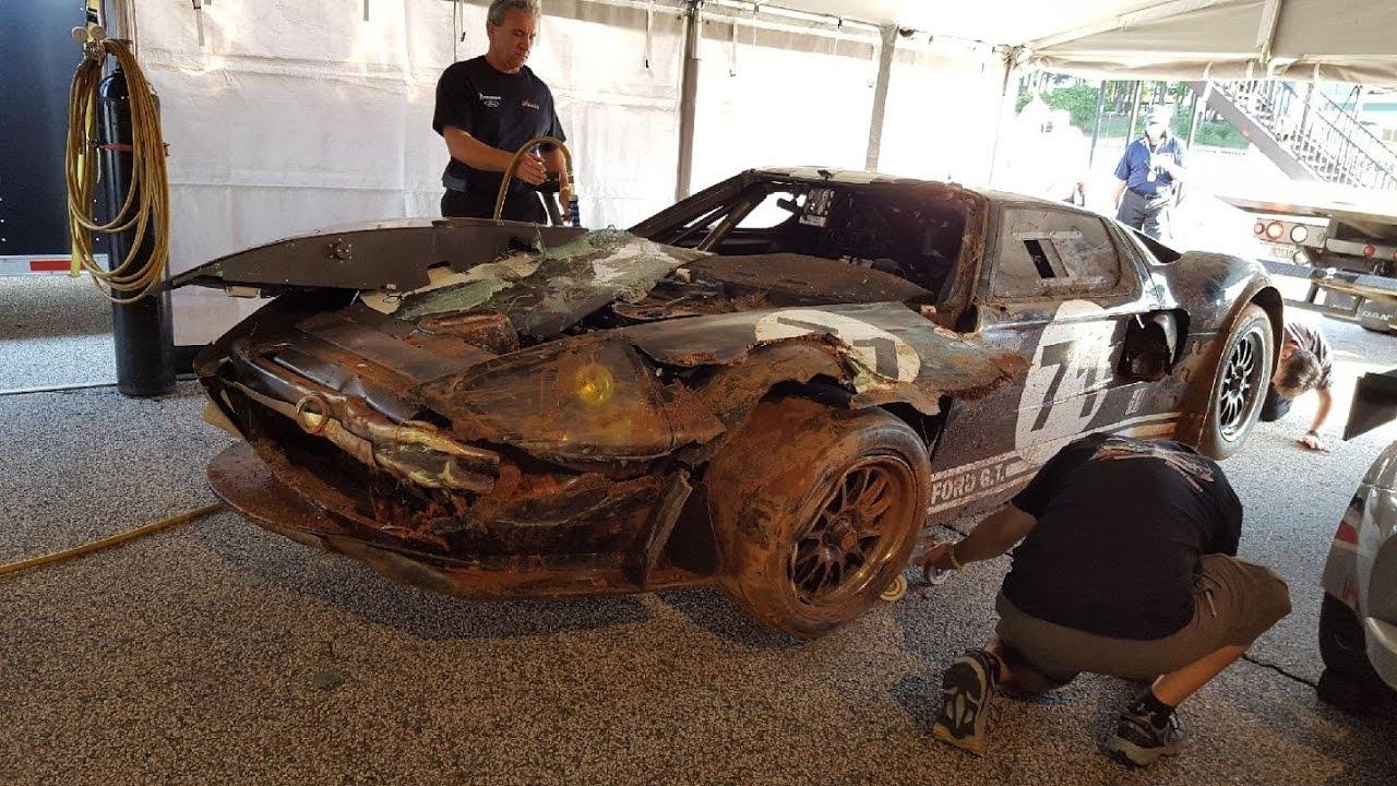 April   Road Atlanta Hsr Mitty Ford Gt Crash At Turn