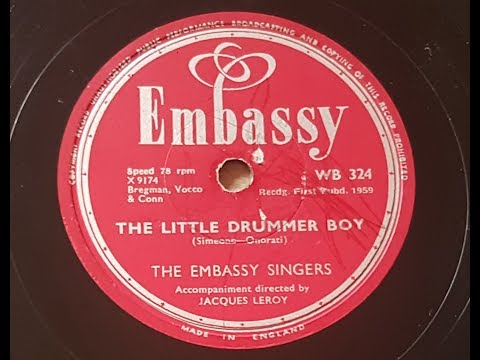 The Embassy Singers 'The Little Drummer Boy' 1959 78 rpm