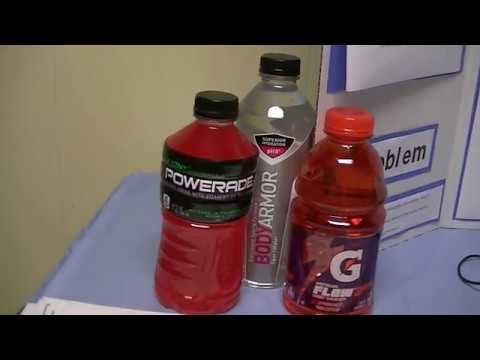 Electrolyte Challenge Science Fair Project