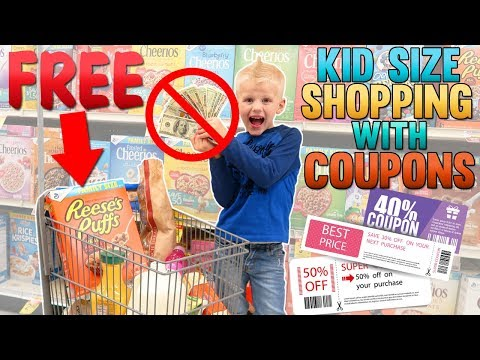 Kid Size Shopping - Free Groceries Using Coupons!!