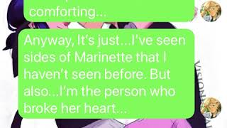 MARINETTE GETS JEALOUS (MARICHAT)    Identities Revealed    Miraculous Texting Story