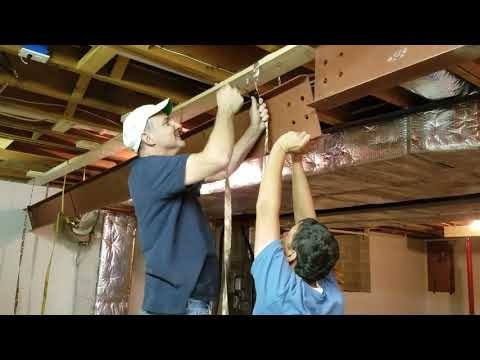 How To Raise Steel Beam In Existing Home