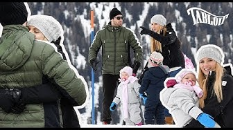 Michelle Hunziker e Tomaso Trussardi, vacanze in montagna con le figlie Sole e Celeste TABLOIT.IT