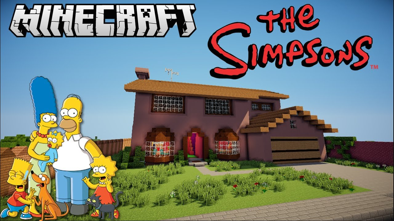 The Simpsons House in Minecraft Timelapse