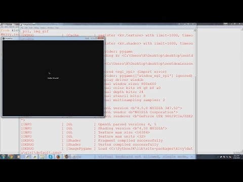 Kivy with Python tutorial for Mobile Application Development Part 1