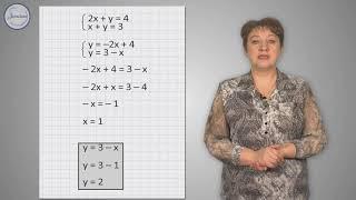 Алгебра 7 класс. Решение систем уравнений методом подстановки