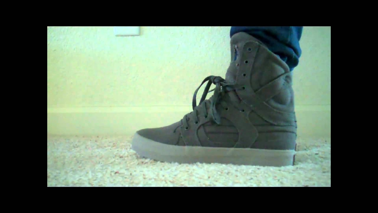 d47f36acbc25be Supra Skytop II 2 (charcoal grey canvas) - YouTube