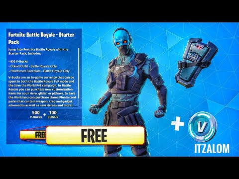 *GLITCH* THE COBALT STARTER PACK FOR FREE! IN FORTNITE BATTLE ROYALE! (NEW SKIN FOR FREE)