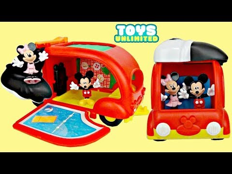 Thumbnail: Disney Jr. Mickey Mouse Clubhouse Friends CRUISIN' CAMPER Playset Minnie Toy Pool Slide / TUYC