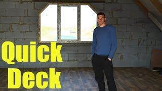 Ремонт дома в деревне Монтаж чистового пола на мансарде из плит QuickDeck  Квик дек