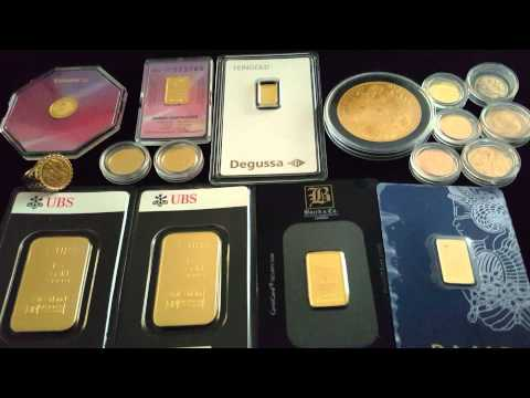 Stock market crash #2015 Gold UBS bullion Bars/ financial ba