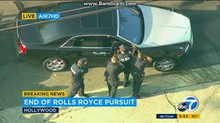 Hollywood Police Chase 8/17/2018 - End of Rolls Royce Pursuit
