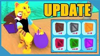 Huge Update!! New Shovels + Skin Crates in Roblox Treasure Hunt Simulator