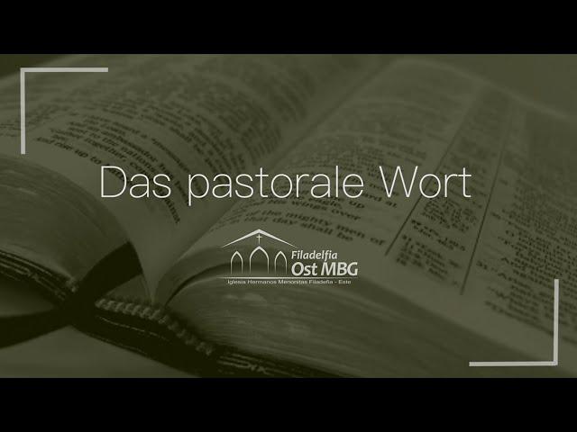 Das pastorale Wort - August [Thilo Harder]