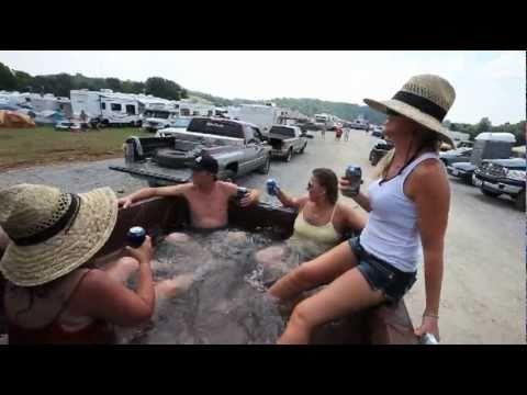 NASCAR fans' 'Hillbilly Hot Tub'