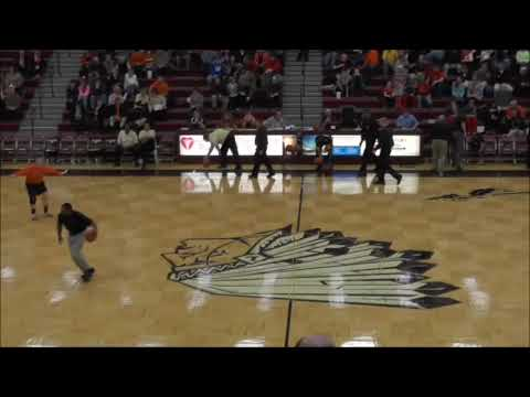 Girls High School Tournament Basketball - Clinton-Massie vs Wilmington 02-19-2014