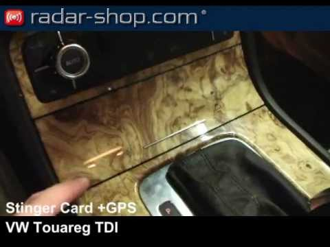 stinger card in vw touareg radar detector radarwarner detecteur de radar youtube. Black Bedroom Furniture Sets. Home Design Ideas