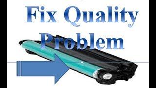 fix printer hp laser jet cp 1025 color printer quality not good