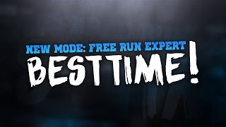 NEW BLACK OPS 3 MODE: FREE RUN EXPERT - MY BEST TIME!