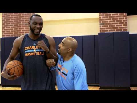 Al Jefferson Takes Dennis Scott In the Paint on NBA Inside Stuff