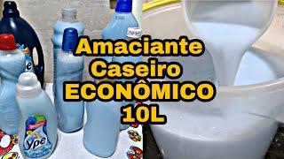 Receita Fácil de Amaciante Caseiro – Rende 10 Litros