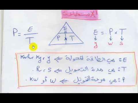 نتيجة بحث الصور عن شرح درس الاستطاعة في مادة الفيزياء للسنة الثالثة متوسط