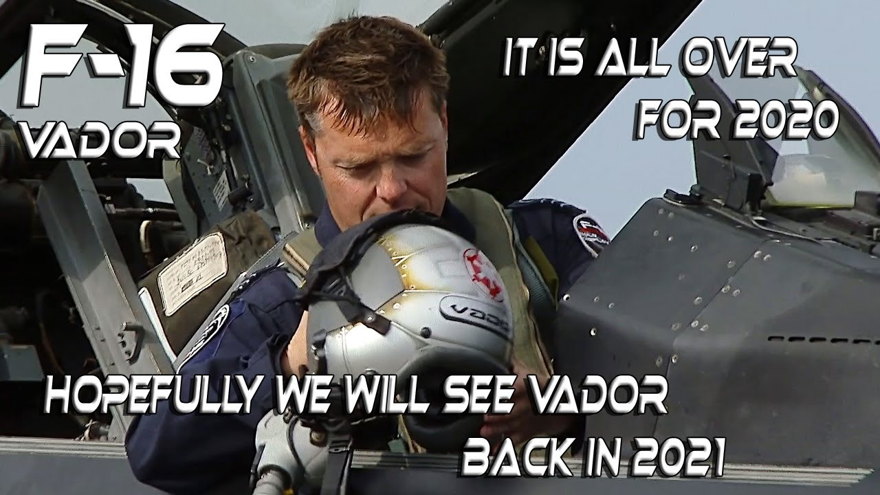 F16 4K UHD   F-16 Stefan  Vador  Darte  Dark Falcon. It is all over for 2020 .