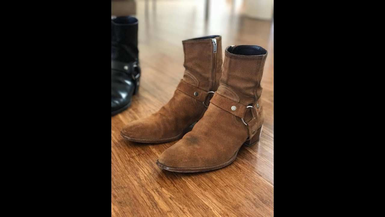 2363c091950b6 Saint Laurent Harness Wyatt Boots Review - YouTube