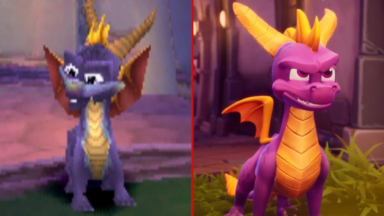Spyro the Dragon: 1998 vs. 2018