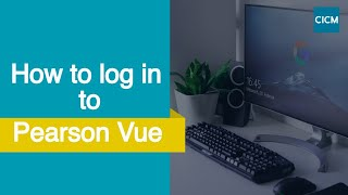 How to log iฑto Pearson Vue