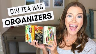 Kitchen Organization | Organize Tea Bags with This EASY DIY Tea Bag Holder
